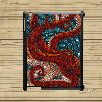 ipad air case,cute ipad air cover,cute ipad mini case,ipad 2 case,ipad 3 case,ipad 4 case,ipad mini case--Mosaic Octopus,in plastic.