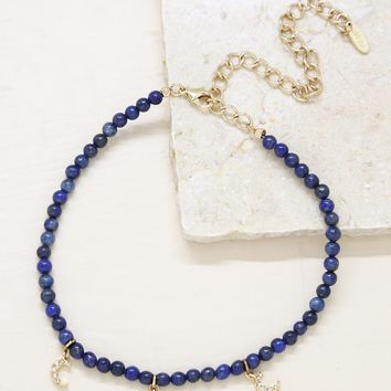 Cluster Must Have Choker in Lapis and Gold