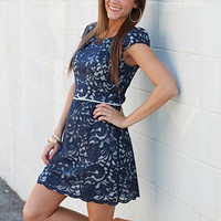 Beatrice Dress, navy