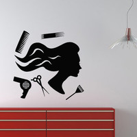 Wall VInyl Decal Sticker  Beauty Hair Barber Saloon Art Design Room Nice Picture Decor Hall Wall Chu1188