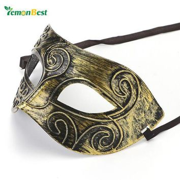 DCCKU7Q Hot Sale Vintage Retro Mask Silver/Gold Men Greco-Roman Gladiator Masquerade Masks for Carnival Halloween Costume Party Ball