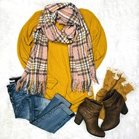 Play Along Pink/Mustard Multi Scarf