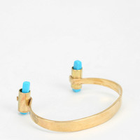 Cities In Dust Reverse Turquoise Dagger Cuff Bracelet - Urban Outfitters