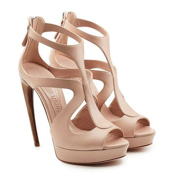 Leather Platform Pumps - Alexander McQueen | WOMEN | US STYLEBOP.COM