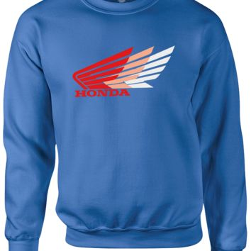 honda wings Sweatshirt CrewNeck