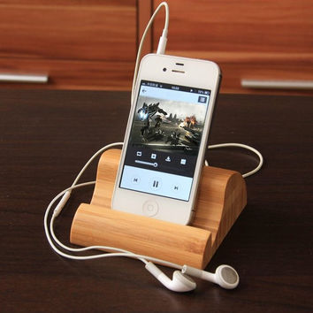 Bamboo Phone Stand for phone  ipad
