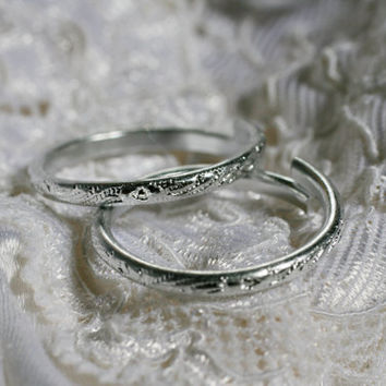 Lot of 50 Silver Wedding Rings, For Wedding Favors, Bridal Showers, Angel Halos.