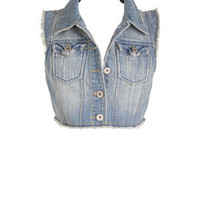 Fray Denim Vest