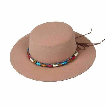 Beaded Felt Flamenco Hat