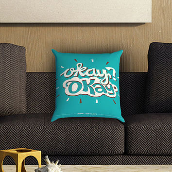 Okay Okay. The Fault in Our Stars 3 Pillow Cover , Custom Zippered Pillow Case One Side Two SIde