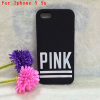 Victoria/'s Secret PINK Luxe Soft Rubber Stripe Case Covers For iphone 4 4g 4s/5 5g 5s