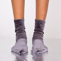 Velvet Sensation Sock | Grey