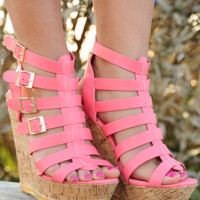 Tell The World Wedges: Pink | Hope's