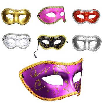 Big Sale Men Women Costume Prom Mask Venetian Mardi Gras Party Dance Masquerade Ball Halloween Mask Fancy Dress Costume