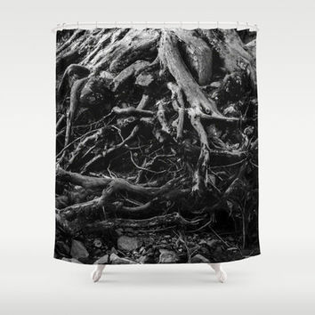 Black and White Shower Curtain, Tree Shower Curtain, Abstract Shower Curtain, Black and White Decor, Nature Shower Curtain, Bathroom Decor