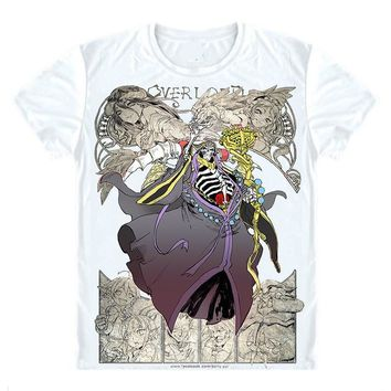 Anime T-Shirt cosplay Overlord T-Shirts Short Sleeve Shirts Anime Manga Shalltear Bloodfallen Sharutia The Bloody Valkyrie Honyopenyoko Cosplay Shirt AT_57_4