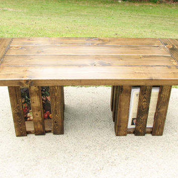 Coffee table, Free Shipping, Rustic, Crate, Storage, Country, Modern