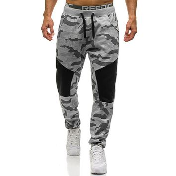 Male Trousers New Men Casual Hip hop Sweatpants Personality stitching Army Camouflage Trousers Joggers Men's Pants
