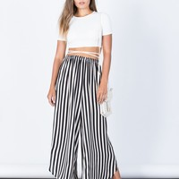 Easygoing Striped Pants