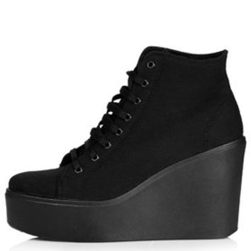 HUMBLE Wedge Ankle Boots - Black