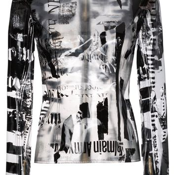 Transparent PVC Newspaper Blouse by Balmain