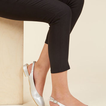 If It Ain't Got That Slingback Vegan Flat in Silver | Mod Retro Vintage Flats | ModCloth.com