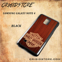 Harley Davidson Wood For Samsung Galaxy Note 4 Case Gift Present - Multiple Choice Material
