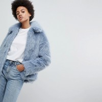 Weekday Faux Fur Jacket at asos.com