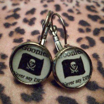The Goonies cameo earrings
