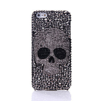 Handmade Cool Skull Bling Bling Case for iPhone