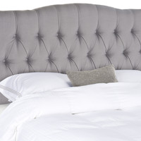 Axel Arctic Grey Tufted Headboard King