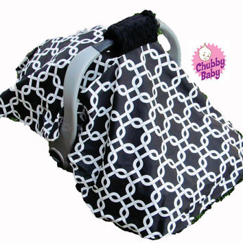 Canopy Tent Cover for your Infant Car Seat with Padded Handle Cover- You Pick