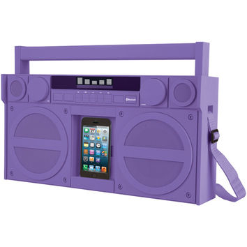 Ihome Bluetooth Portable Fm Stereo Boom Box With Usb Charging