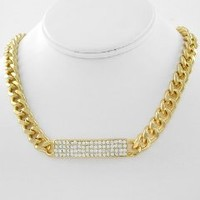 HOT!! Iced Out Rhianna HIP HOP ID Necklace w/BLING for Men or Women by Jersey Bling