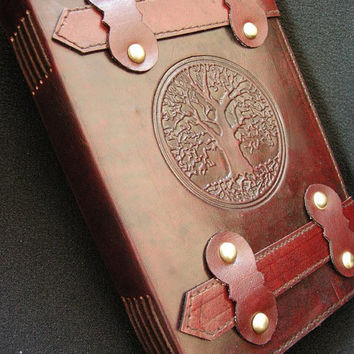 OAK TREE Handmade Journal Diary Sketchbook - Tab-Lock Fastening, Cartridge Paper - Freepost UK