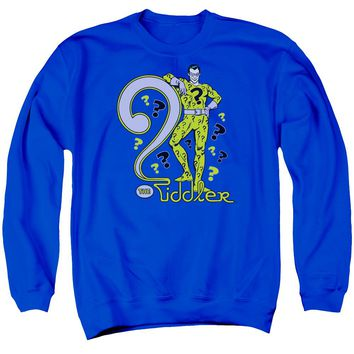 Dc - The Riddler Adult Crewneck Sweatshirt Officially Licensed Apparel