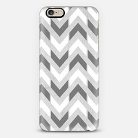 Grey & White Herringbone Chevron iPhone 6 case by Tangerine- Tane | Casetify