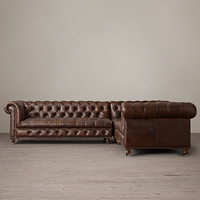 Cambridge Leather Corner Sectional