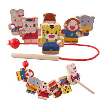 Wooden Baby Toys Beads Game
