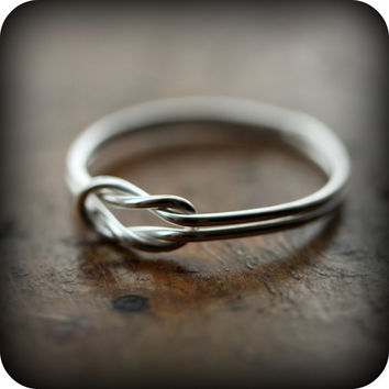 Sailor knot ring - recycled sterling silver ring