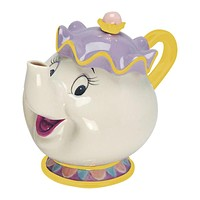 Disney Beauty and the Beast Mrs. Potts Sculpted Ceramic Teapot New Wih Box