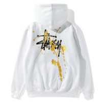 Personalized letter printing plus cashmere hoodie sweater youth long-sleeved jacket sportswear