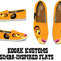 KOOAK Kustoms Disney Lion King Simba - Inspired Toms Flats for Kids