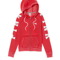 Perfect Funnel Neck Full-Zip - PINK - Victoria's Secret