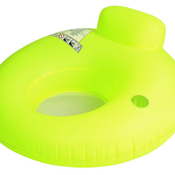 "48"" Neon Yellow Water Sofa Inflatable Swimming Pool Inner Tube Lounger Float"