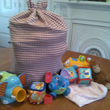 Large Drawstring Bag, Laundry Bag, Toy Bag, Sleepover Bag - Made To Order