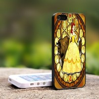 Beauty and the Beast moon - For iPhone 5 Black Case Cover