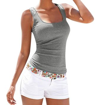 Stylish Sleevless Fitted Tank Top