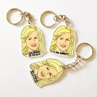 Leslie Knope Quotes Keychain