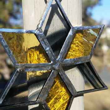 Hogwarts: Hufflepuff House, Stained Glass Decorative Star